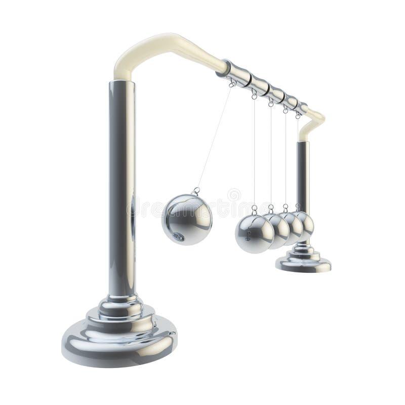 Инерция и баланс: Изолированный вашгерд Ньютона иллюстрация штока
