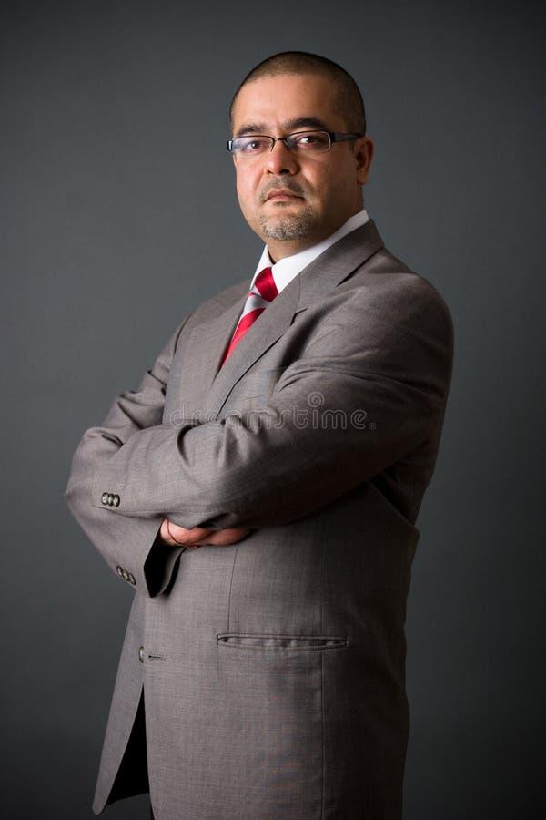 инец бизнесмена уверенно стоковое изображение rf