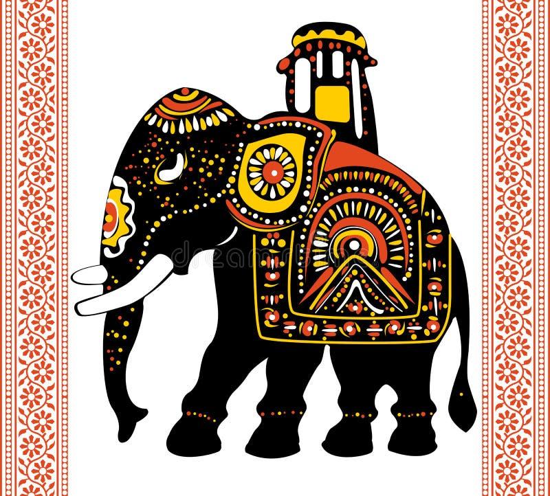 инец слона праздничный иллюстрация штока