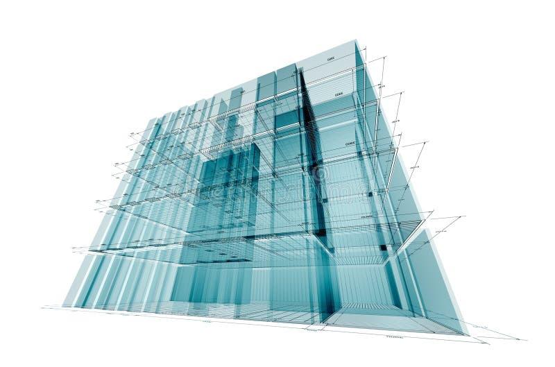 инженерство здания иллюстрация штока