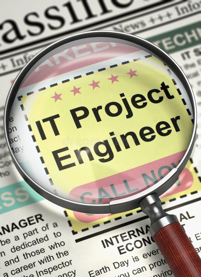 Инженер ИТ-проекты открытия вакансии 3d стоковая фотография