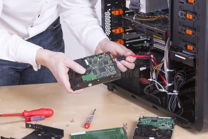 Инженер поддержки компьютера стоковая фотография rf