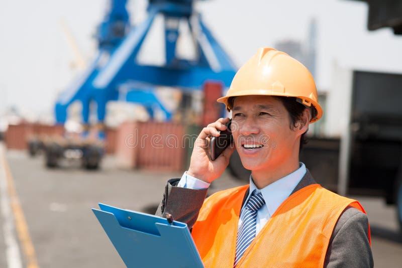 Инженер порта стоковые изображения