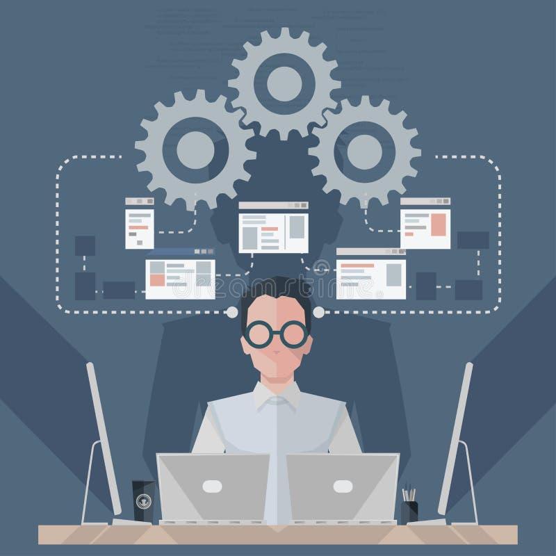 Инженер по программномы обеспечению бесплатная иллюстрация