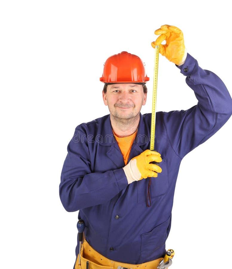 Инженер с рулеткой стоковые фотографии rf