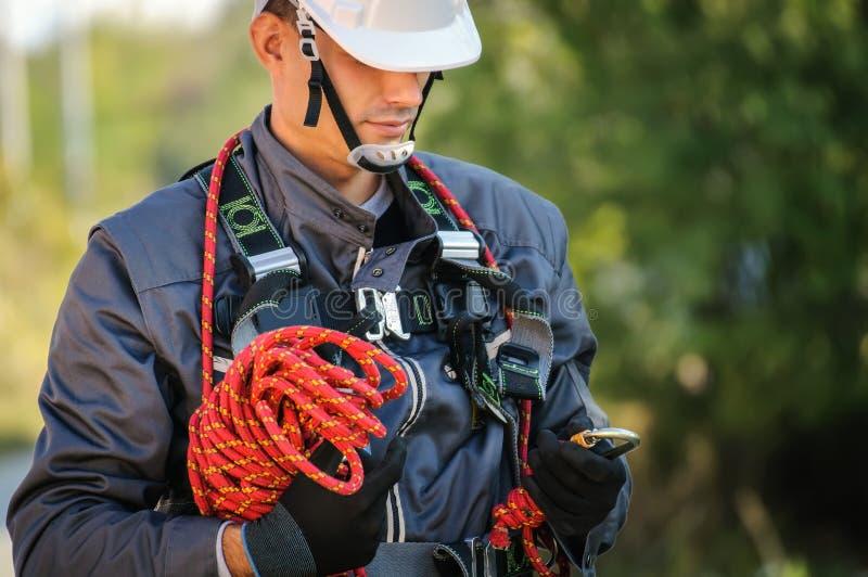 Инженер телефона стоковая фотография
