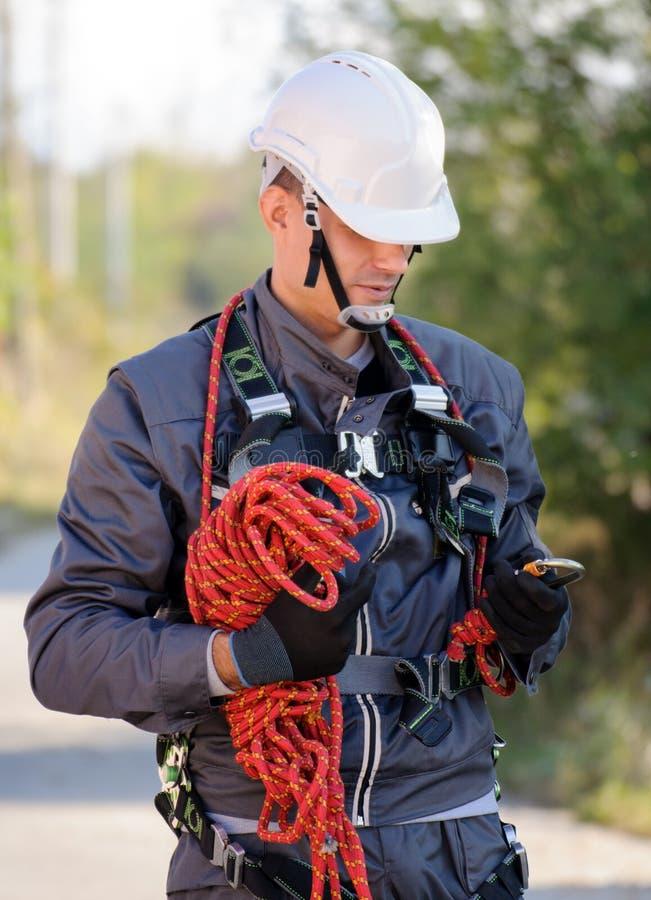 Инженер телефона стоковое фото