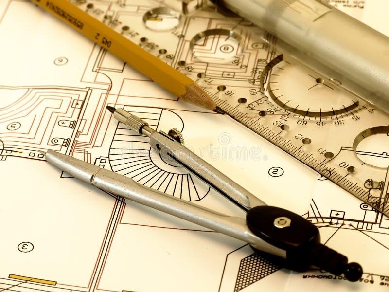 инженер чертежа стоковое изображение rf
