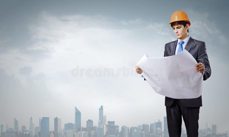 Download Инженер человека стоковое изображение. изображение насчитывающей модель - 41650323