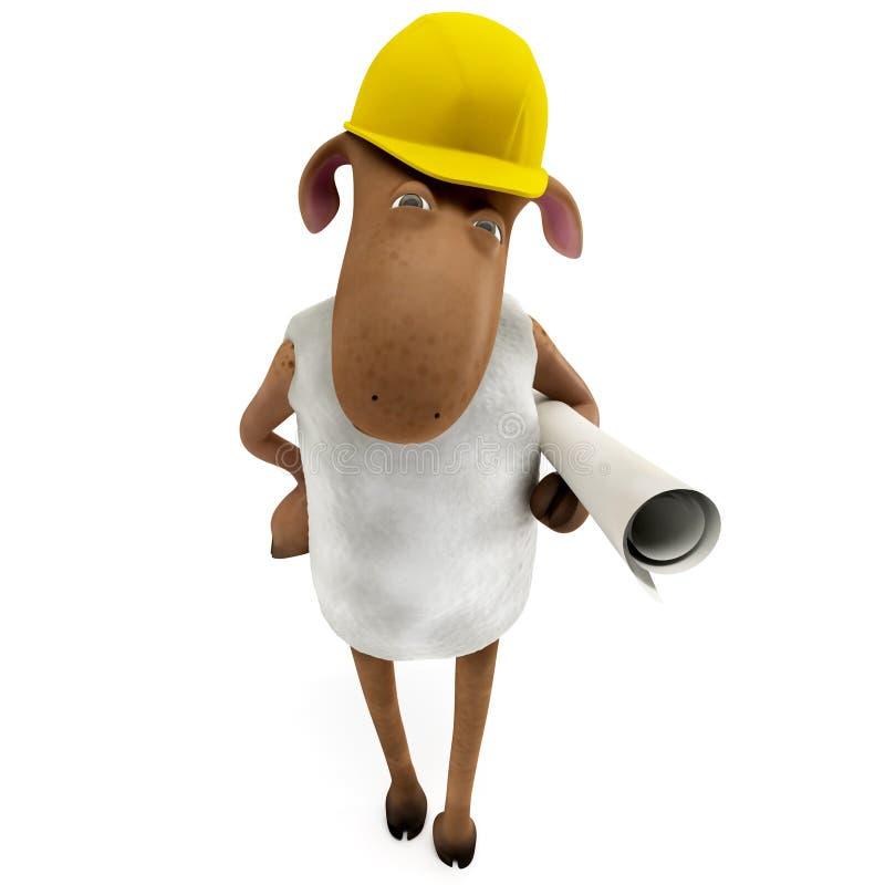 инженер sheepy иллюстрация штока