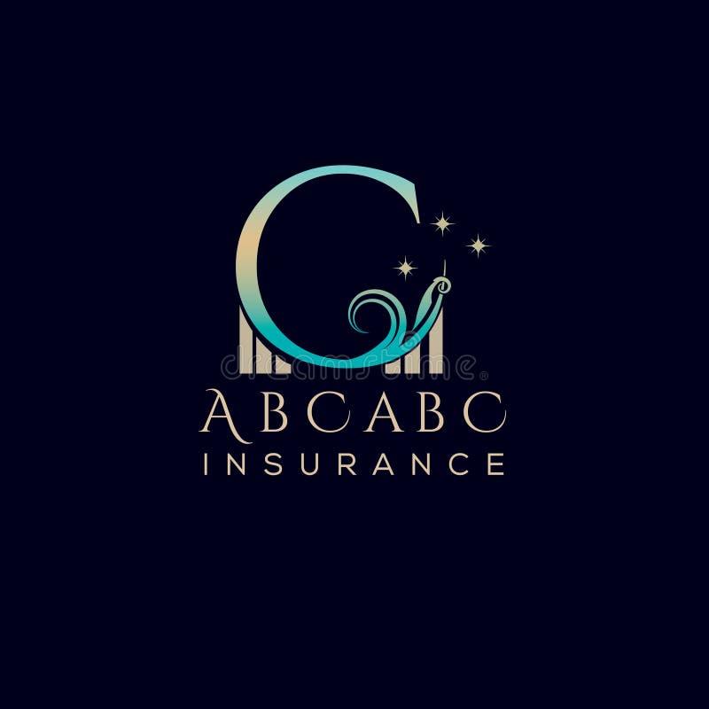 Инициал письма c Шаблон дизайна логотипа вектора письма c Винтажная эмблема для гостиницы, ресторана, бутика, бренда моды иллюстрация вектора