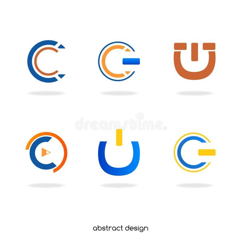 Инициал c логотипа абстрактный стоковое фото rf