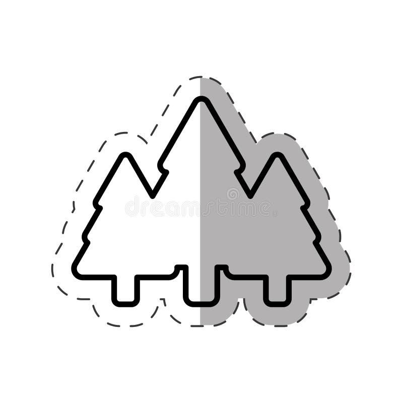 линия орнамента рождества сосны дерева иллюстрация штока