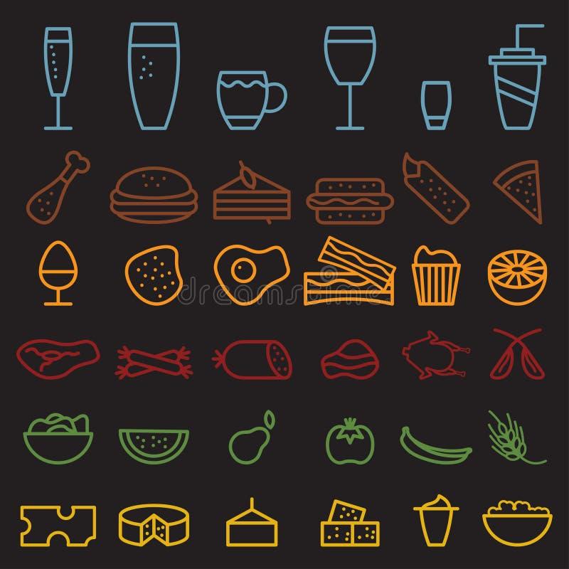 линия установленные значки питья ремесла бесплатная иллюстрация