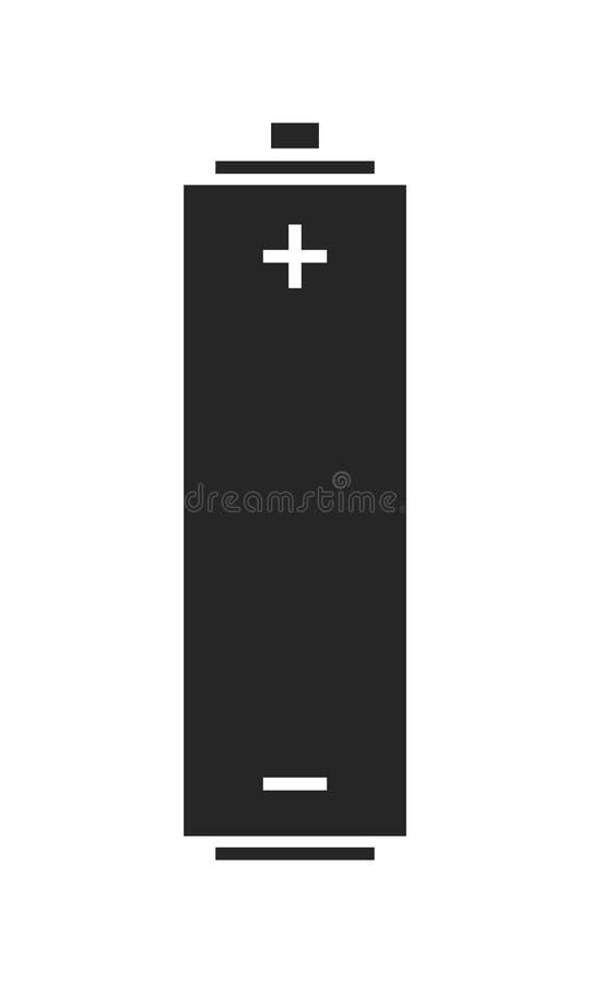 линкора Источник энергии Плоский значок, силуэт изолированный на белой предпосылке вектор бесплатная иллюстрация