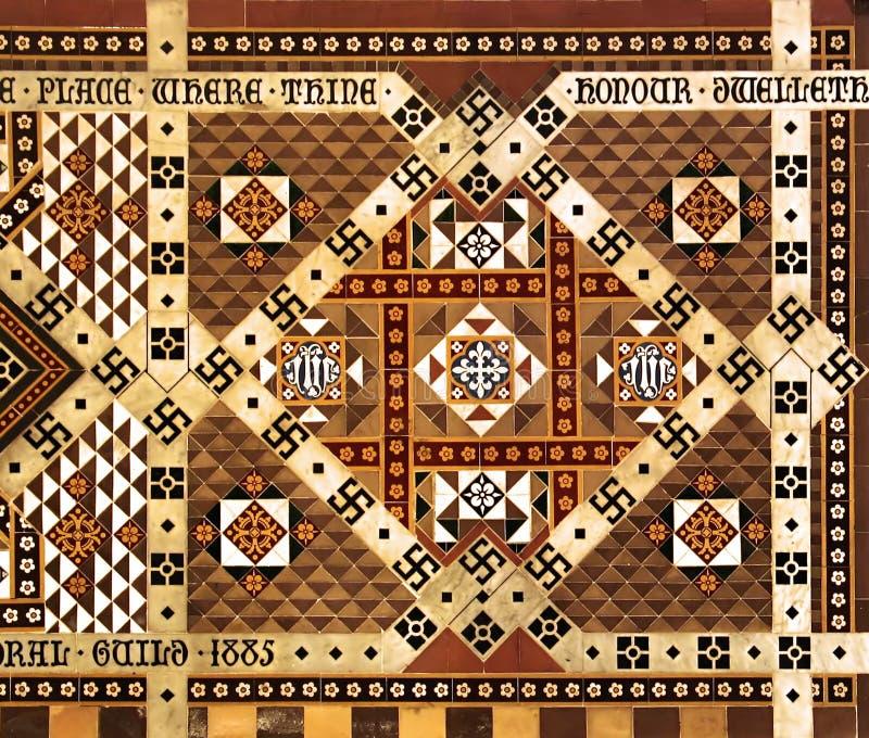инкрустированная мраморная настенная роспись мозаики стоковые фотографии rf