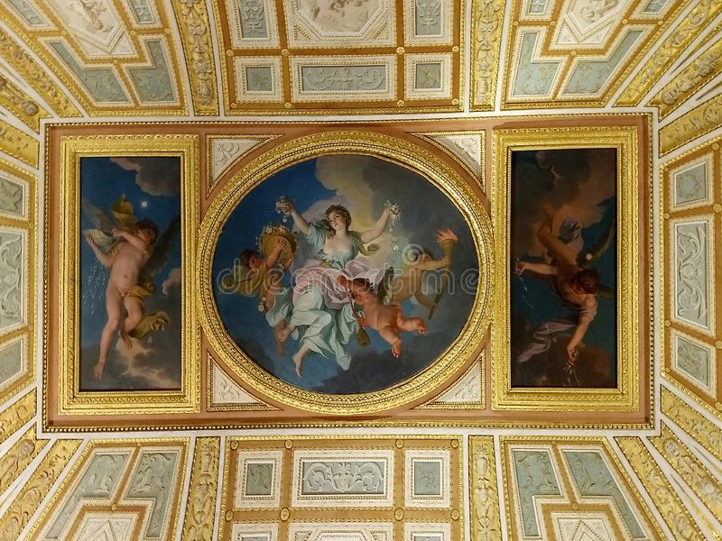 Иносказание сумрака часа, вилла Borghese rome стоковые фото