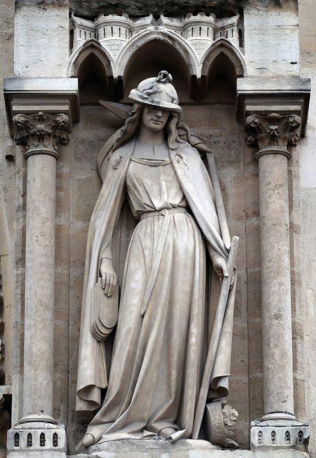 Иносказания, синагога, собор Нотр-Дам, Париж стоковые изображения