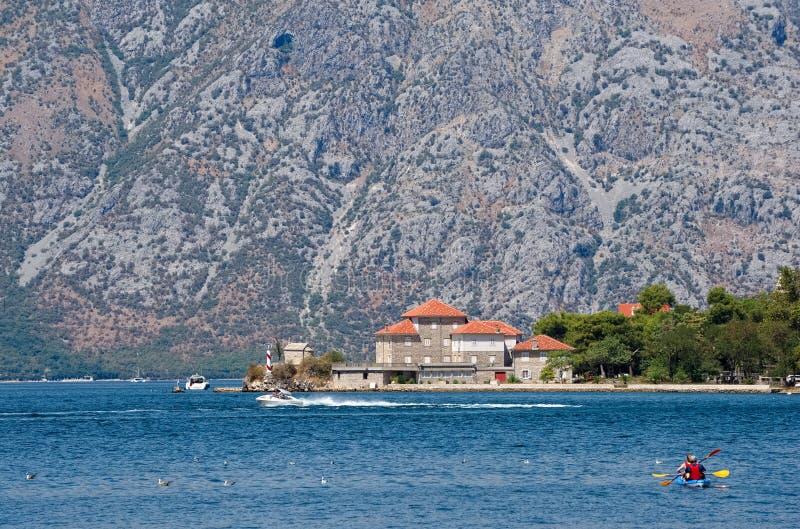 Институт морской биологии в Kotor стоковое фото rf