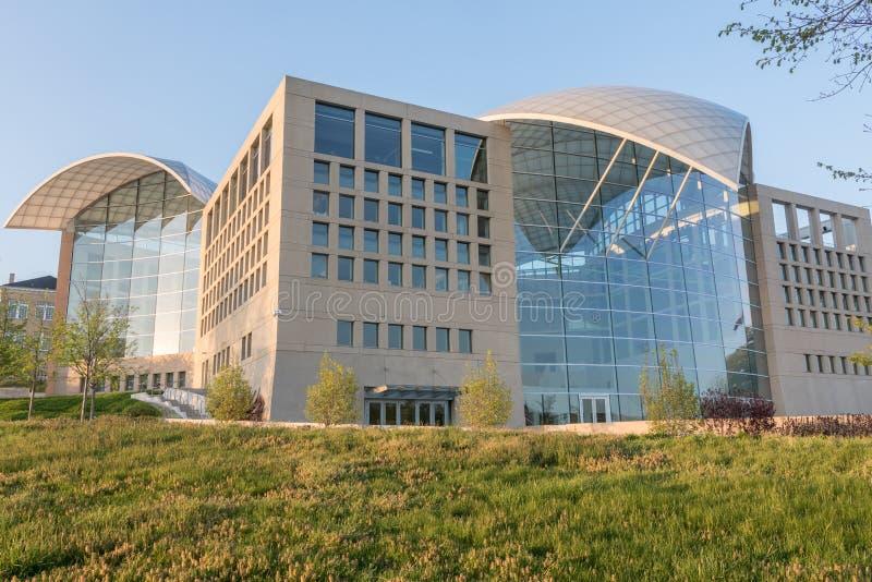 Институт Соединенных Штатов штабов мира на конституции Av стоковые изображения rf