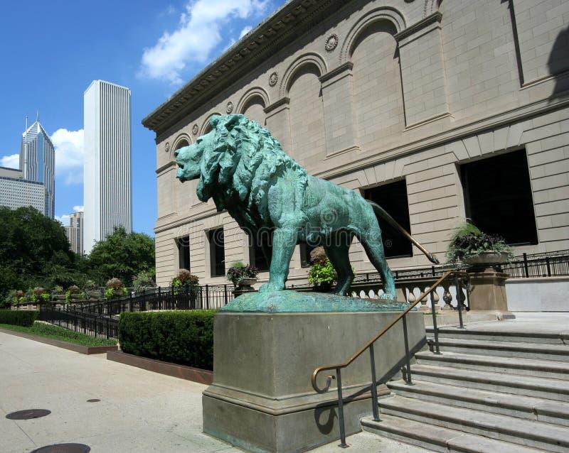 институт chicago искусства стоковое фото