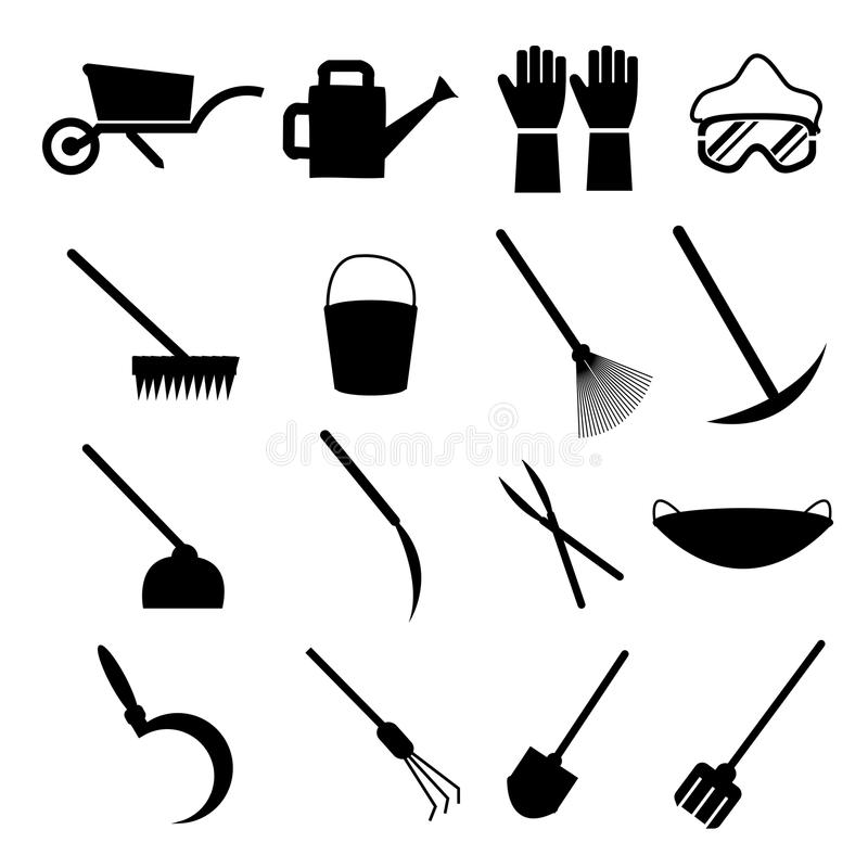 инструменты весеннего времени сада садовничая иллюстрация вектора