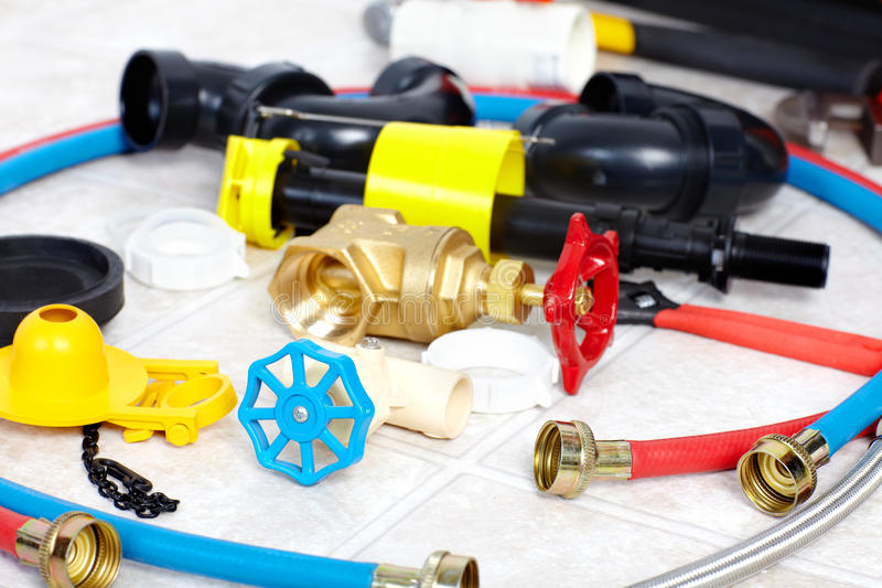 Инструменты водопроводчика стоковое изображение