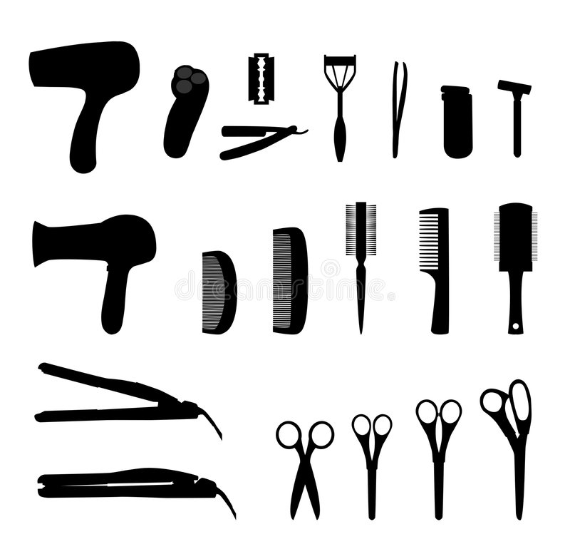 инструменты волос иллюстрация вектора