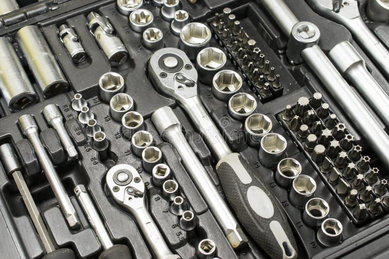 Инструменты в комплекте стоковые изображения