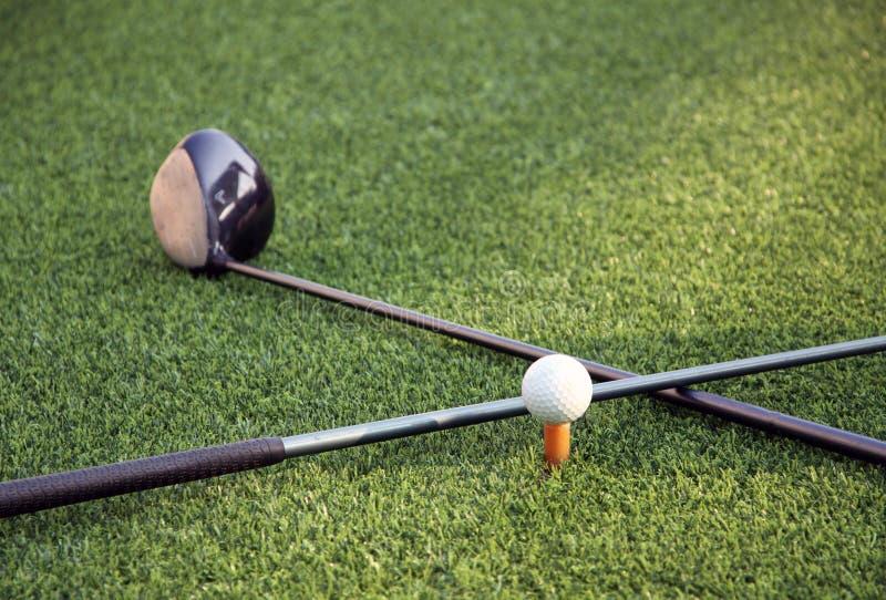 Инструменты гольфа стоковые изображения