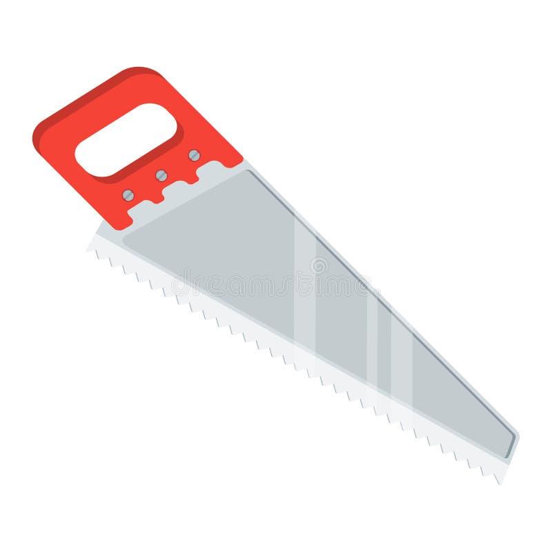Инструменты для пилы ремонта иллюстрация вектора