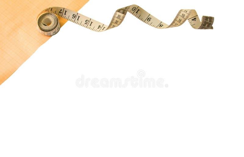 инструменты для шить и needlework миллиметровка стоковые фото