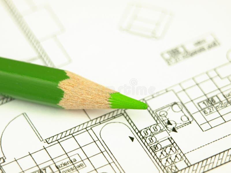 инструменты дома строения архитектора стоковое изображение