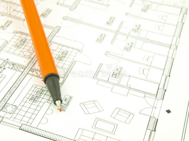 инструменты дома строения архитектора стоковая фотография