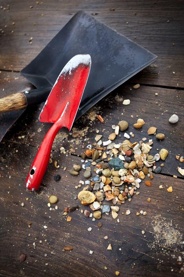 Инструменты золотоискателя стоковое фото rf