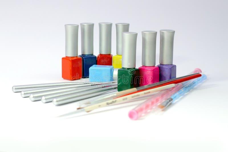 Инструменты искусства ногтей стоковые фото
