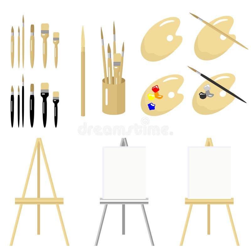 Download инструменты искусства точные Иллюстрация вектора - иллюстрации насчитывающей палитра, покрашено: 6866208