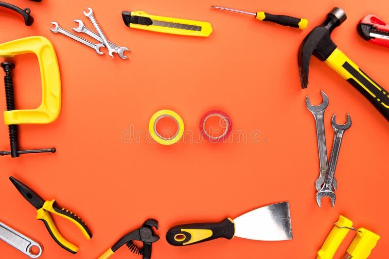 Инструменты и лента Reparement стоковая фотография rf