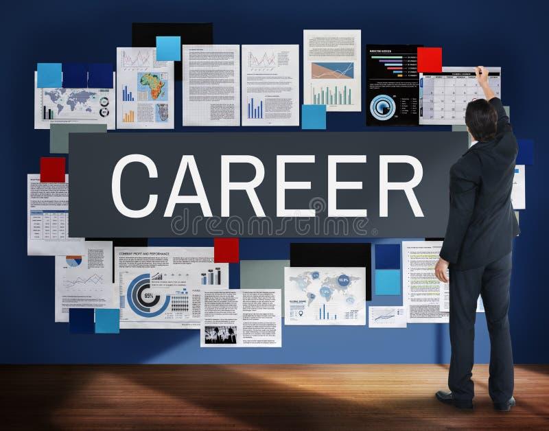 Инструменты карьеры завербовывая концепцию профессии стоковое изображение rf