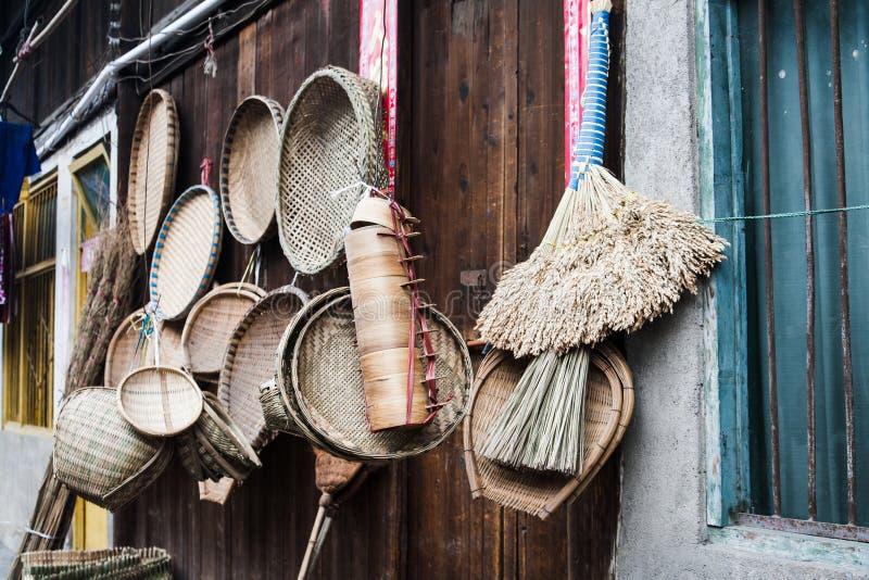 Инструменты Китая трудовые сделанные бамбука стоковое изображение rf