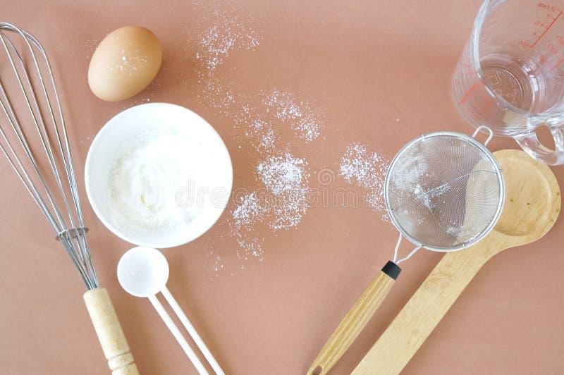 Инструменты кухни для хлебопекарни стоковое фото
