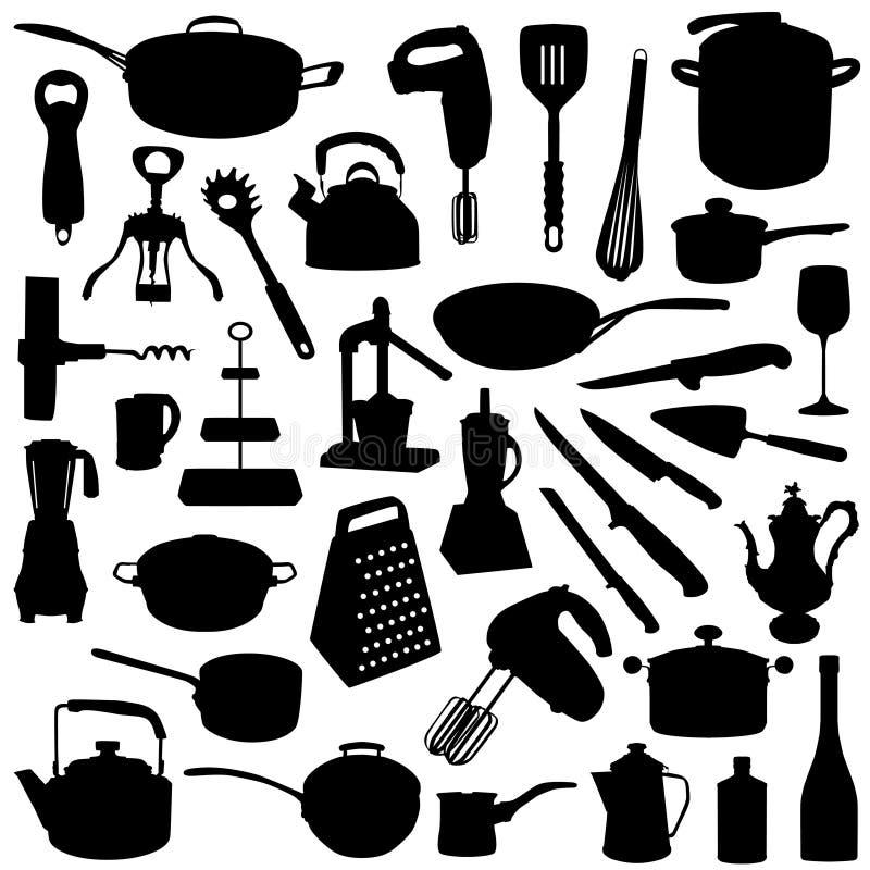 инструменты кухни иллюстрация вектора
