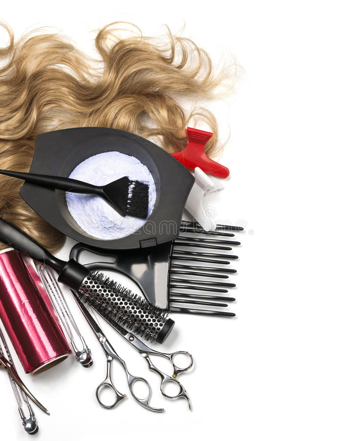 Инструменты парикмахера стоковое изображение
