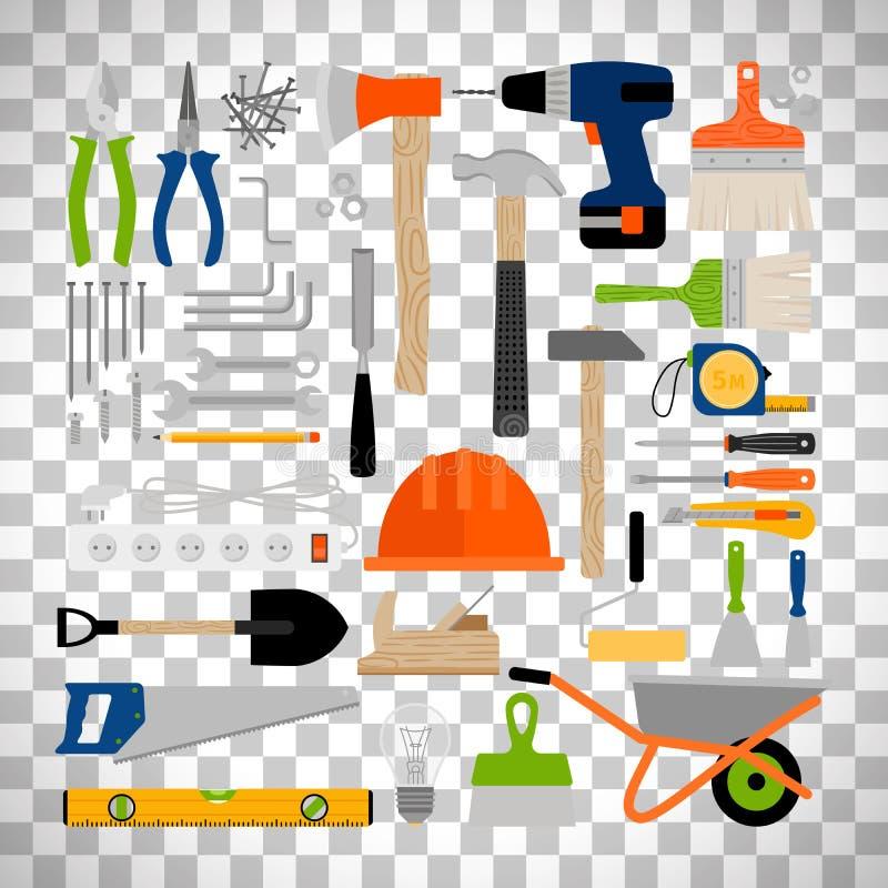 Инструменты ремонта, конструкции или деятельности дома бесплатная иллюстрация