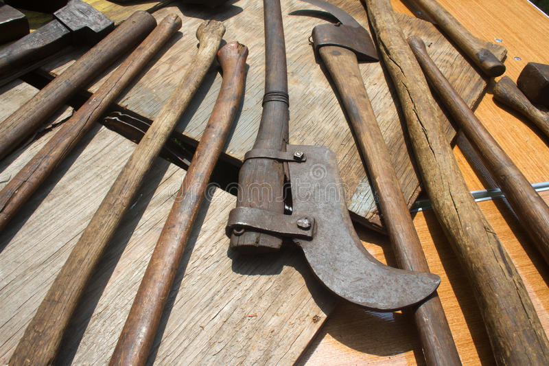 инструменты руки старые стоковое изображение rf