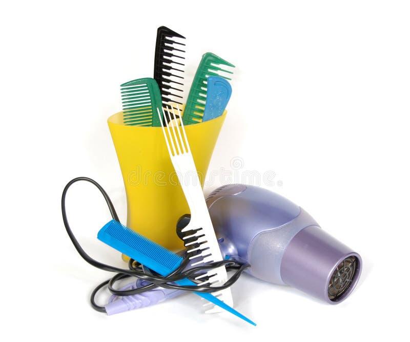 инструменты упаковки волос стоковое изображение rf