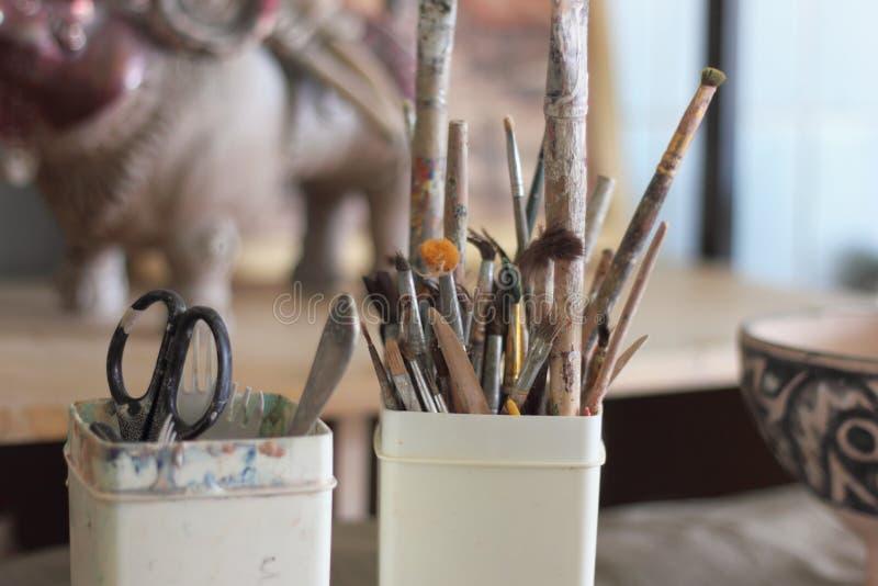 Инструменты художника стоковое изображение rf