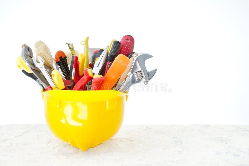 инструменты шлема конструкции стоковое изображение