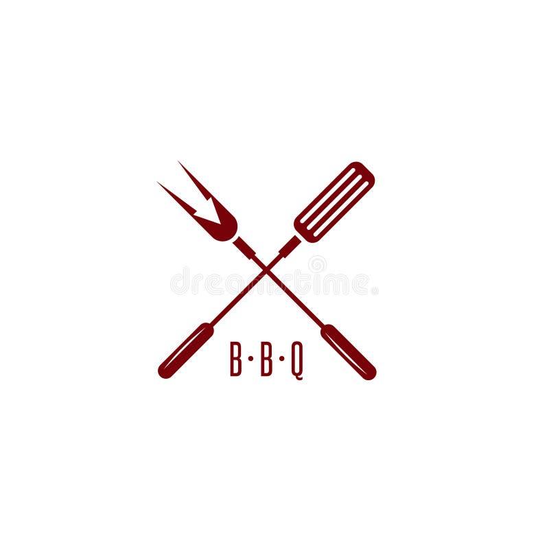Инструменты Bbq с вектором значка стрелки простым конструируют иллюстрация штока