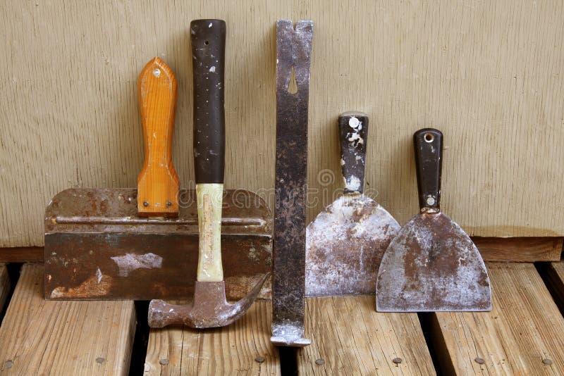 инструменты drywall стоковые фото